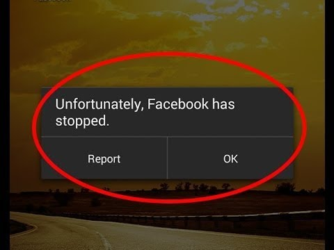 how to fix unfortunately facebook stopped