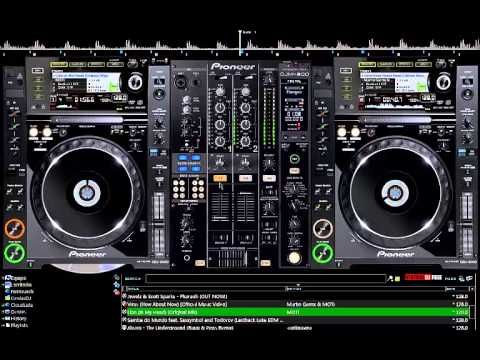MEZCLANDO MUSICA ELECTRONICA CON VIRTUAL DJ 7 PRO SKIN PIONNER