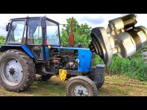 Стартер на ЮМЗ-6 вместо пускача. Модернизация ЮМЗ Полный Фарш ч. 2. #СельхозТехника №23