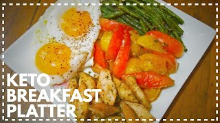 Keto Breakfast Platter | Healthy Breakfast Recipe | Weight Loss Breakfast | Keto Diet Breakfast