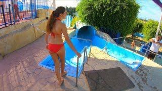 Waterslides at Paphos Waterpark Cyprus