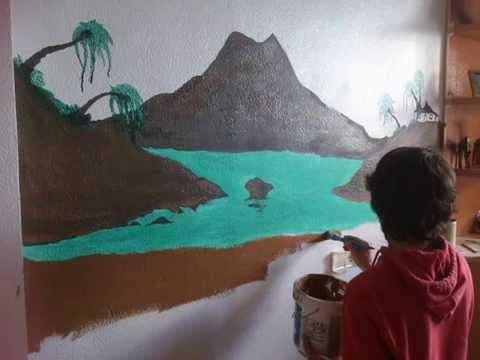 Diy decora y pinta dormitorio juvenil de chico youtube - Pintar habitacion juvenil ...