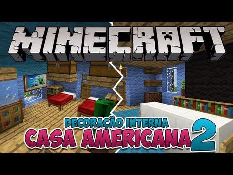 Minecraft: Decoração Interna da Casa Americana 2