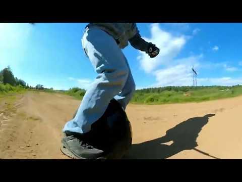 16 колесо Inmotion V8 тест разных покрытий 360 VR video