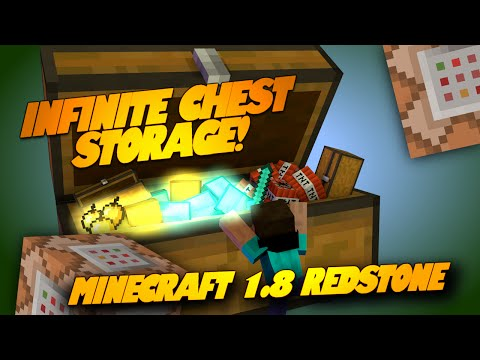 Minecraft Redstone MEGA CHESTS INFINITE Storage Epic Minecraft Redstone Creations Minecraft 1.8
