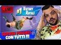 🔴 Live Fortnite Server Privati Con I Fans !!! Vi Sfidiamo  Battle Royale