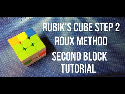 How to Solve the Rubik's Cube: Roux Method Step 2: Second Block