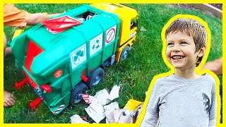 Toy Recycling Trucks Recycle Cardboard