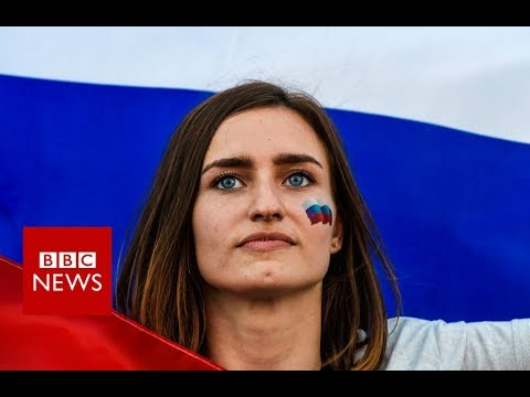 Russian football fans celebrate - BBC News