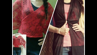 Part-1 Two Easy Ways to be Stylish while being Casual/5 minute DIY/Reuse of dupatta/scarf/Summers