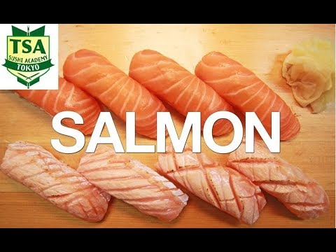 How to make Sushi 'Salmon'(How to filet salmon)Tokyo sushi academy東京すしアカデミー