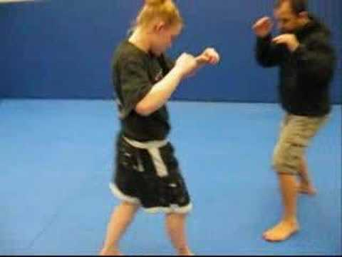 Setting up the jumping knee with an inside kick