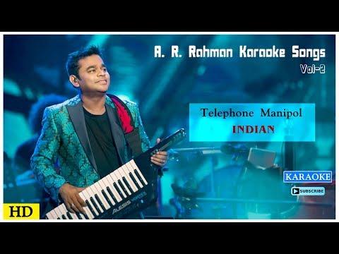 Telephone Manipol Karaoke Song | AR Rahman Karaoke Songs | Indian Movie Songs | Music Master