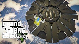 GTA 5 PS4 : UFO DI TEMPAT MILITER! RAHASIA UFO GTA 5!
