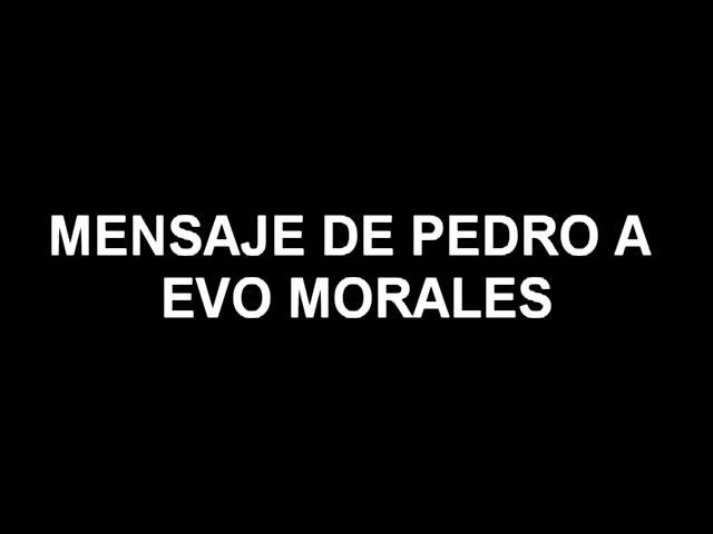 Pedro Romaniuk BSP antonio 5 PARA EVO MORALES
