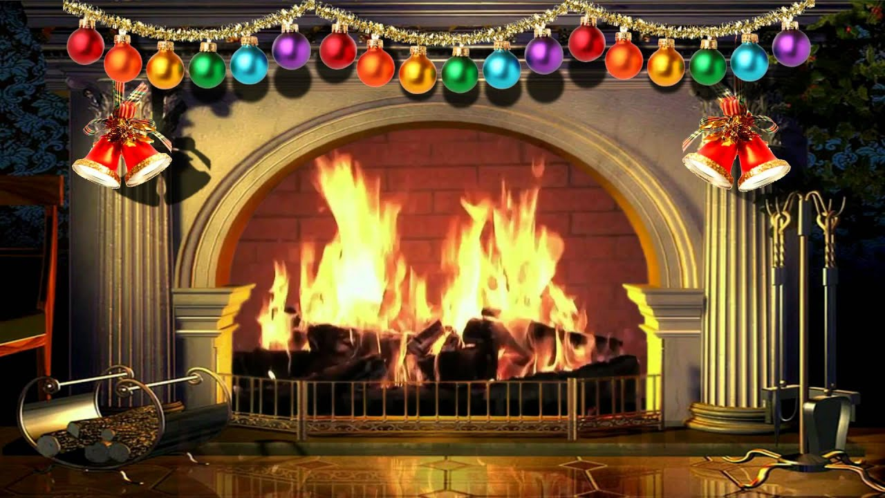 Virtual Christmas Fireplace Free Background Video 1080p