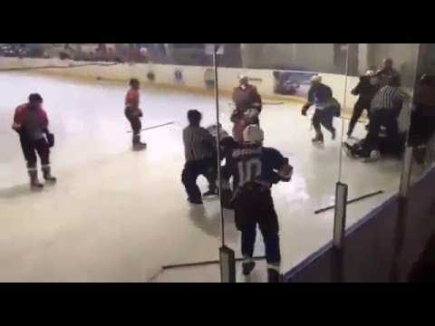 Драка в матче Торпедо-2000 - Металлург (Новокузнецк)