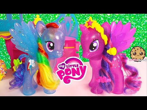 MLP Princess Twilight Sparkle & Rainbow Dash Glitter My Little Pony Friends Forever Style Playset
