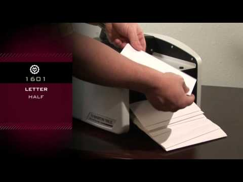 Martin Yale 1601 Automatic Paper Folding Machine Demo Video