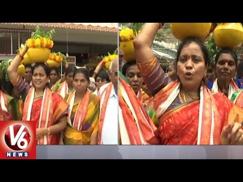 Telugu Women Community Members Offers Bonam To Vijayawada Kanakadurga Goddess | V6 News