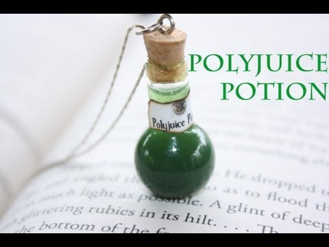 Polyjuice : Harry Potter Potion Ep. # 2 Bottle Jar Charm : Resin Tutorial