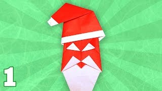 Origami Happy Santa By John Smith (folding Instructions) ~part One~