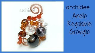 Tutorial | Tecnica Wire | Anello Groviglio Regolabile | DIY Adjustable Ring