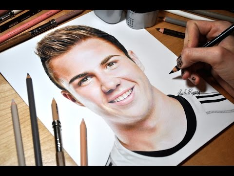 Drawing Mario Götze