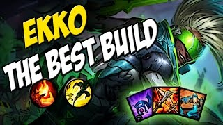 A BUILD DO KAMI - EKKO MID GAMEPLAY - LEAGUE OF LEGENDS