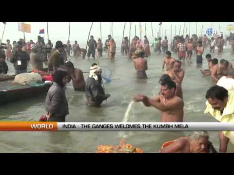 The Ganges welcomes the Kumbh Mela