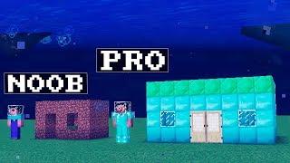 Noob vs Pro : UNDERWATER WORLD challenge Minecraft battle animation city