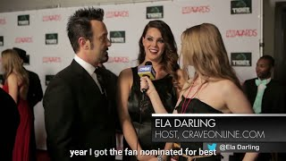ALISON TYLER AND DAVID LORD in award show