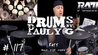 Ratt - Back For More [Drum cover] by Paul Gherlani