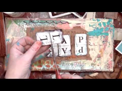 Christy Tomlinson Mixed Media Collage Video: February 2013 Part 1