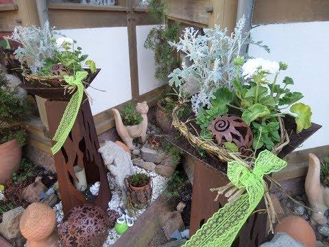 DIY: Blumen Werkstatt- tolle Edelrost-Säulen DEKO schnell & einfach gemacht :))