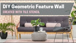 Hot New Trend: Stenciled Tile Accent Wall