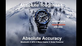 Casio G-SHOCK Master Of G Gravitymaster GPW-2000-1A2 GPS Bluetooth Watch - Unboxing & Review