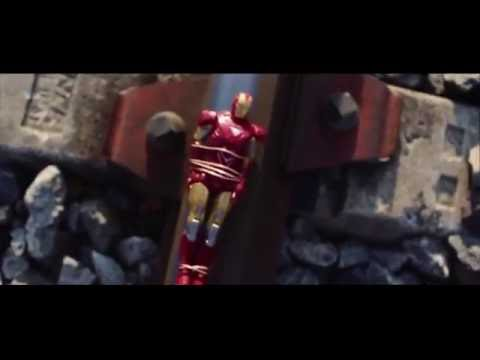 Superman VS Iron Man (VS Rise of Steel Heroes) Figures Stop Motion Man of Steel Avengers Spiderman