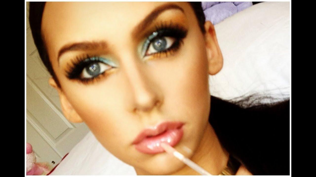 Turquoise Gold Smokey Eye