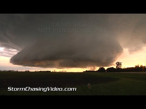 6/27/2015 Richland County ND Hail, Tornado and crazy storm structure time-lapse