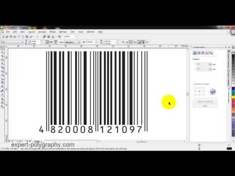 Как сгенерировать штрих-код для макета упаковки