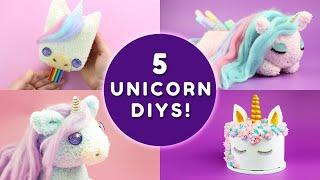 5 UNICORN DIYS YOU HAVE TO TRY! | DIY Unicorn School Supplies & Unicorn Room Decor