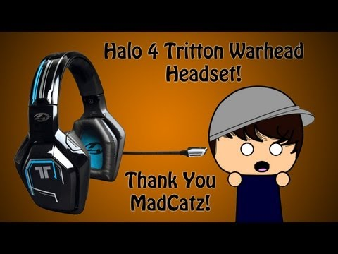 Unboxing The Halo 4 Tritton Warhead 7.1 Surround Sound Xbox Live Wireless Headset! 0.0