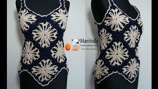 How to crochet cone flower top all sizes free tutorial by marifu6a
