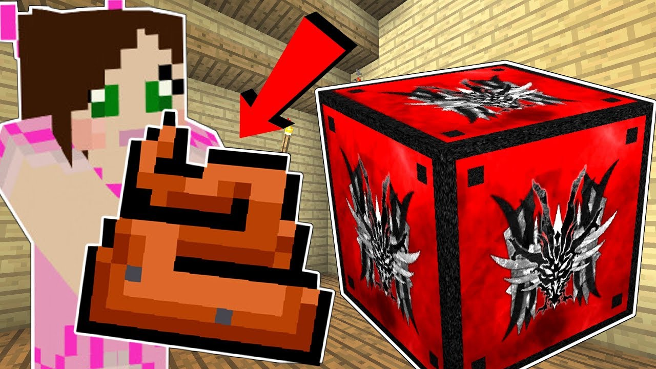Minecraft: MONSTERS LUCKY BLOCK!!! (POOP, RUBBER CHICKENS, & MOB TRAPS!) Mod Showcase
