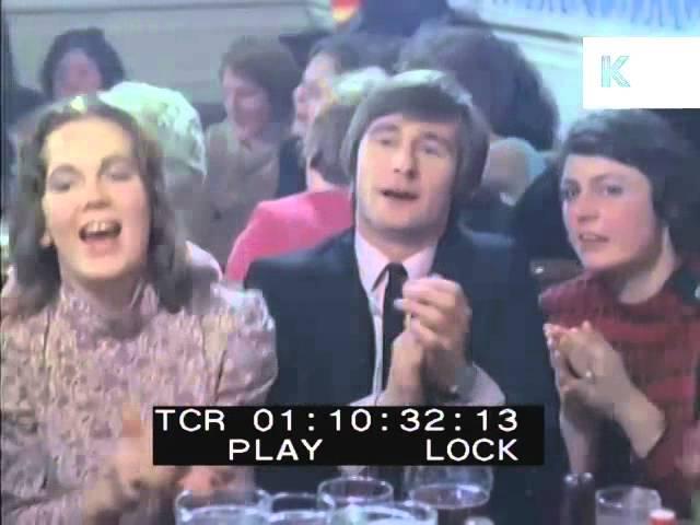 1970s English Pub Singalong, People Drinking Beer, Singing, Weekend