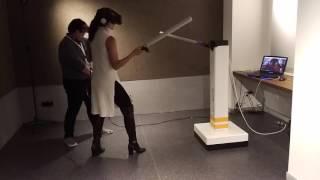 VR Fencing Swordfighting (with actual swords)