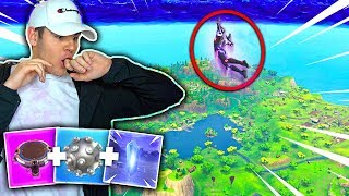 HIGHEST JUMP IN FORTNITE😱! HOP ROCKS + LAUNCH PAD + IMPULSE GRENADE! FLYING IN FORTNITE!