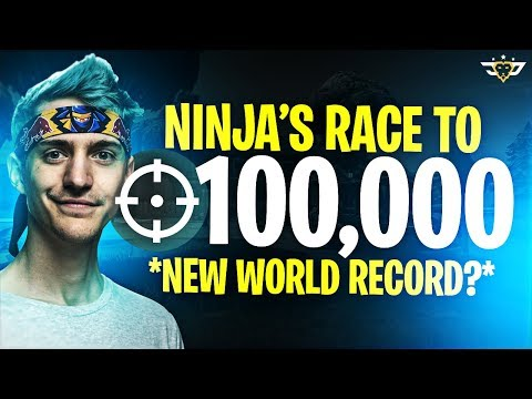NINJA'S RACE TO 100,000 KILLS! NEW WORLD RECORD?! (Fortnite: Battle Royale)