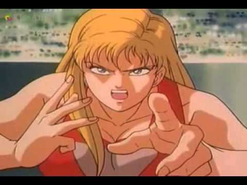 Tough anime female wrestler